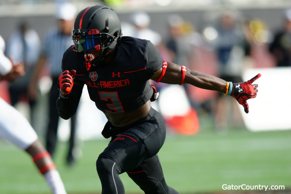 Florida Gators receiver target Sam Bruce during the Under Armour game- 1280x852