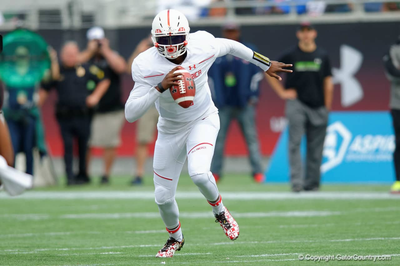 Florida Gators recruiting target Dwayne Haskins at the Under Armour game- 1280x853