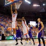 Justin-Leon-Dunks-Versus-LSU-in-Florida-Gators-Basketball-Win-68-62-Win-Stephen-C.-OConnell-Center-GatorCountry-photo-by-David-Bowie