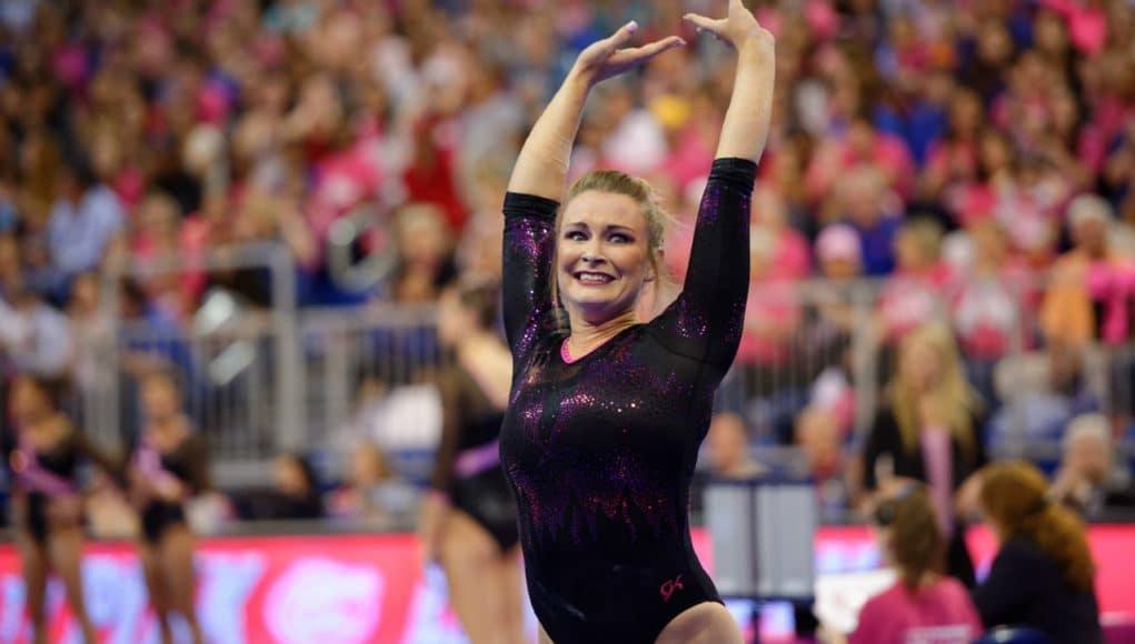 Florida Gators gymnastics meet against Arkansas. Bridget Sloan- 1280x853