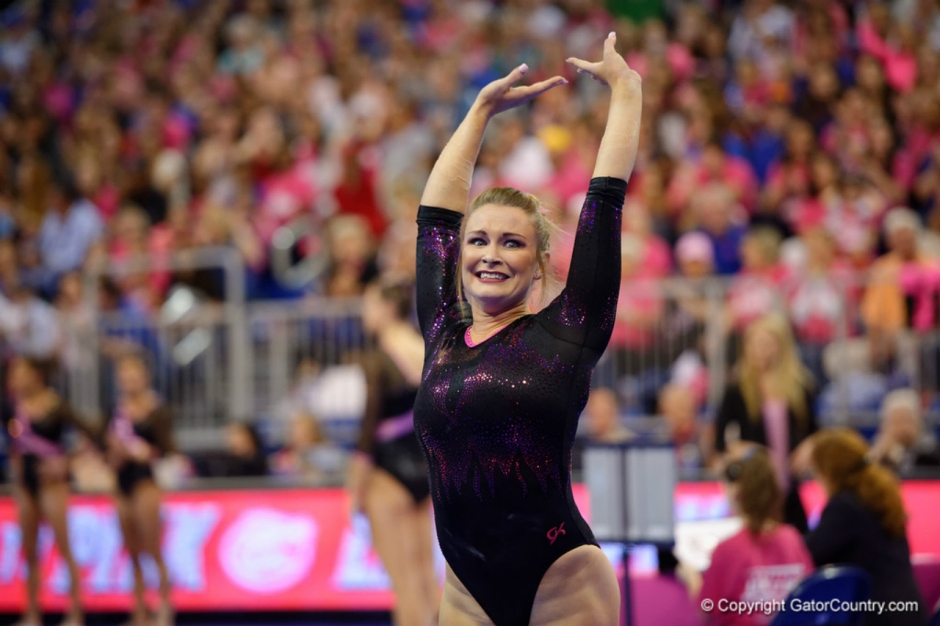 Florida Gators gymnastics meet against Arkansas. Bridget Sloan- 1280x853