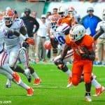 Florida Gators linebacker Neiron Ball pursues Miami Hurricanes running back Duke Johnson in a loss to Miami- Florida Gators football- 1280x849