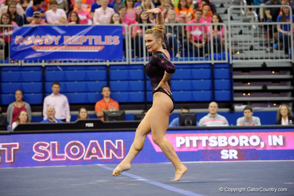 Florida Gators gymnast Bridget Sloan against Arkansas- 1280x853