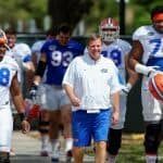 Florida Gators football coach Jim McElwain-Florida Gators recruiting leads the team out to spring practice- 1280x853-Florida Gators recruiting