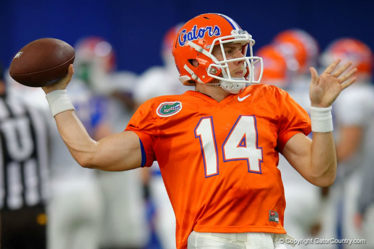 Florida Gators quarterback Luke Del Rio at spring practice- 1280x853
