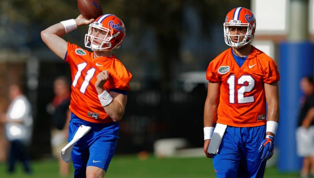 Florida Gators quarterbacks Kyle Trask and Austin Appleby- 1280x853