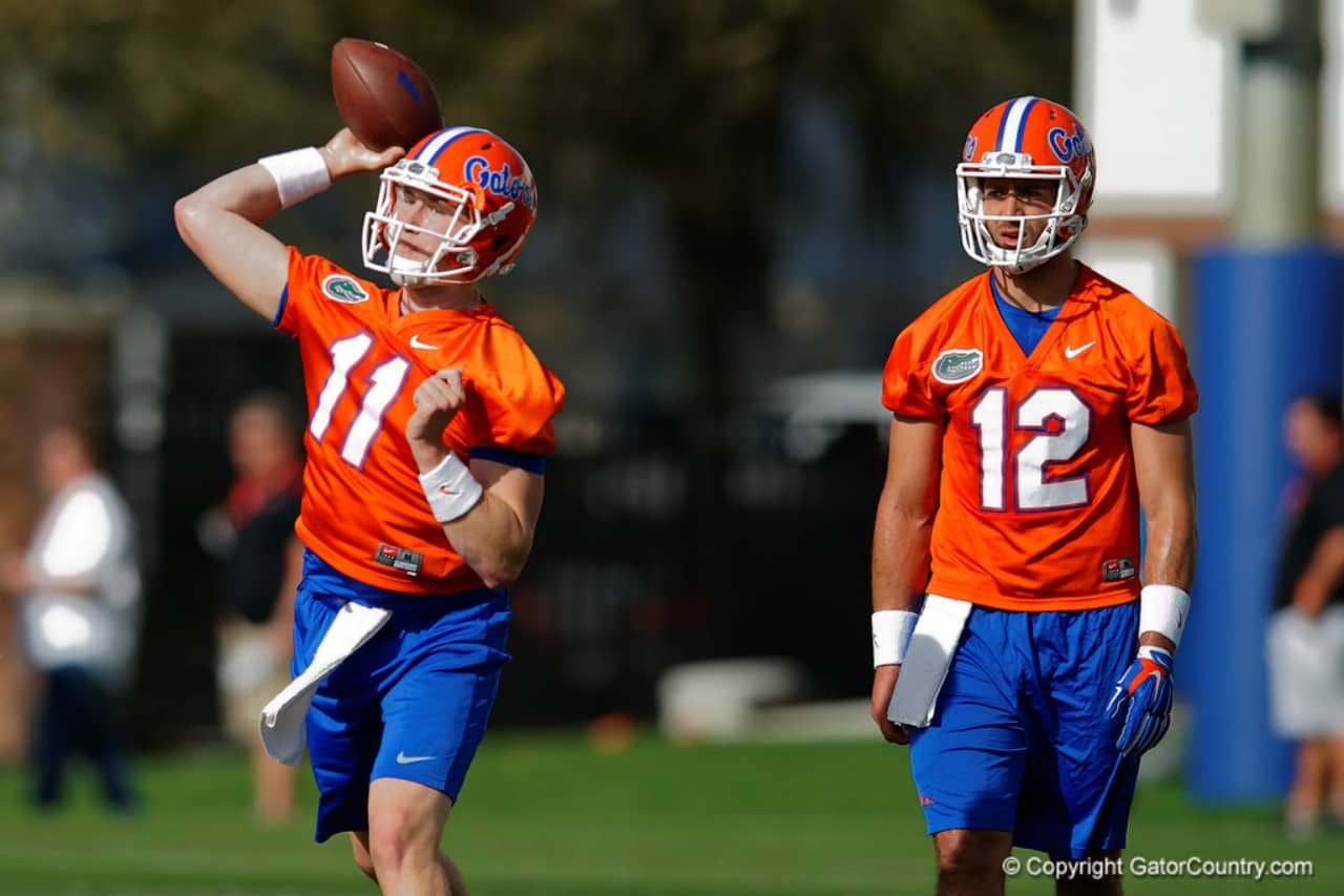 Florida Gators quarterbacks Kyle Trask and Austin Appleby- 1280x853