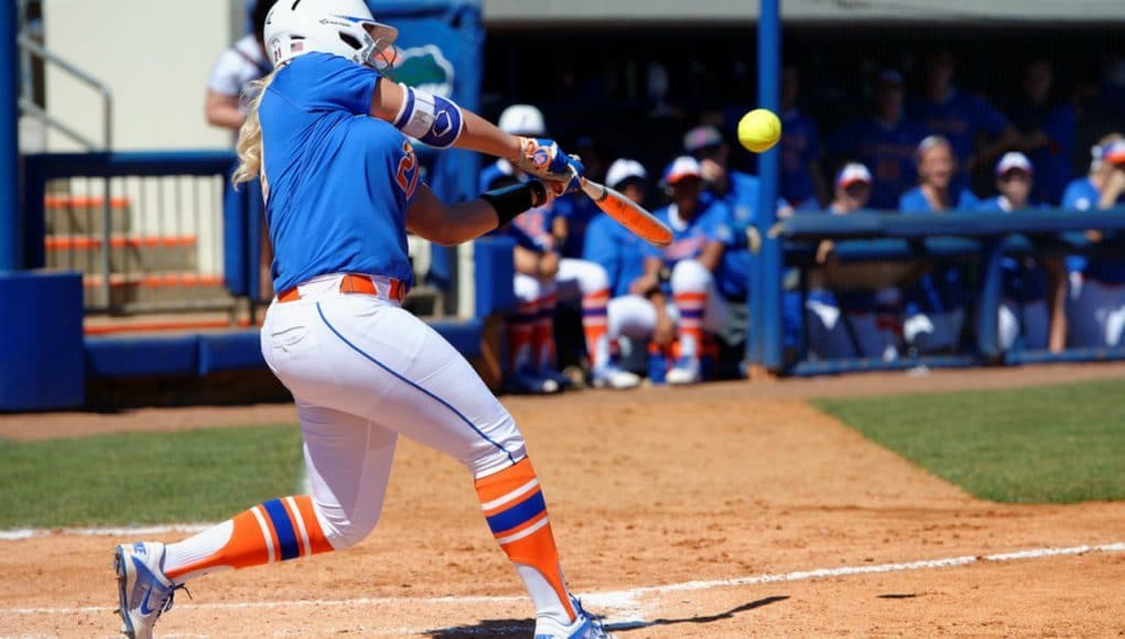 Florida Gators softball player Kayli Kvistad against Illinois State- 1280x853