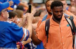University of Florida cornerback Brian Poole greets fans during Gator Walk before the Florida Gators game vs. New Mexico State- Florida Gators football- 1280x852