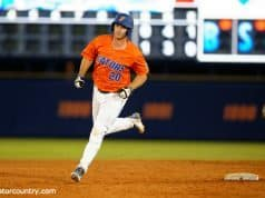 University of Florida first baseman Pete Alonso rounds the bases after a two-run home run against FSU- Florida Gators baseball- 1280x852