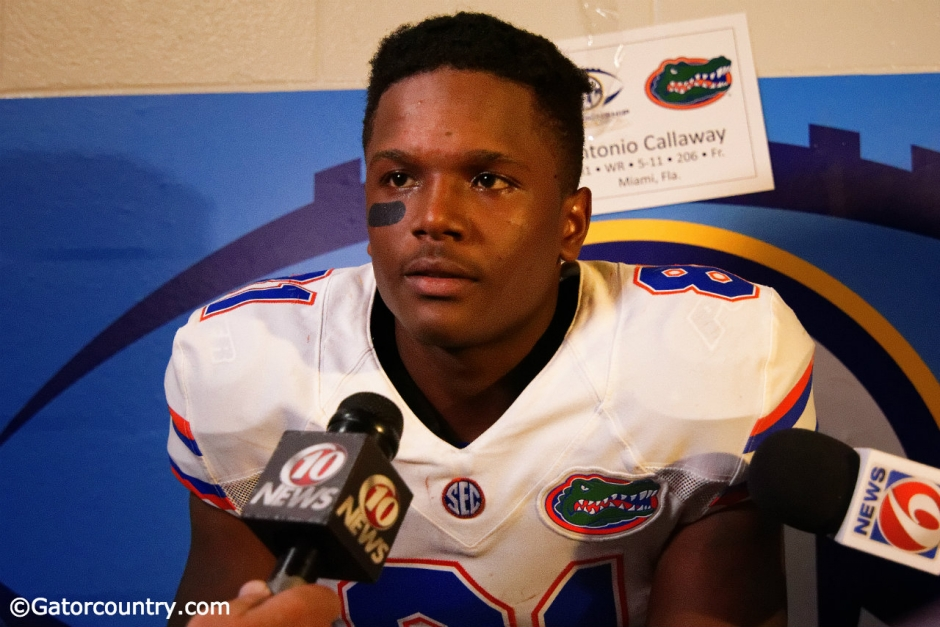 University of Florida freshman receiver Antonio Callaway meets with media after the SEC Championship game- Florida Gators football-1280x854