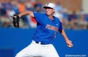 University of Florida junior A.J. Puk throws against Florida Gulf Coast during the opening weekend of the 2016 season- Florida Gators baseball- 1280x851