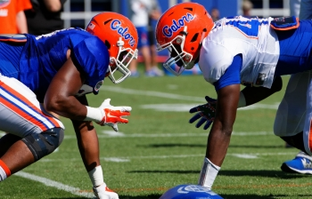 Florida Gators football practice gallery for March 23rd