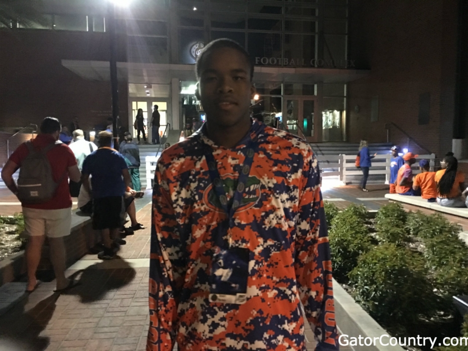 2018 Florida Gators recruiting target Amari Burney after the spring game- 1280x900