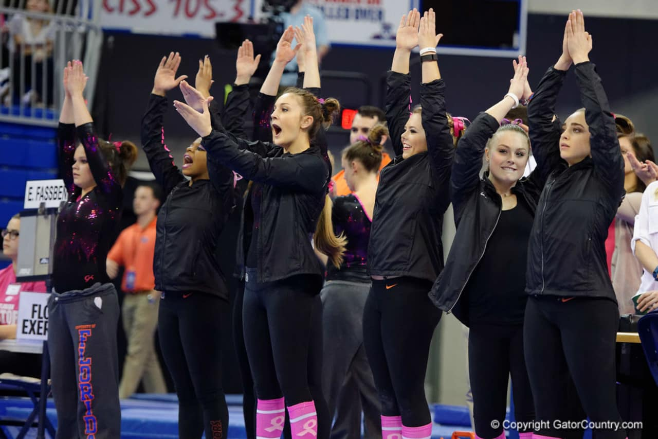 Florida Gators gymnastics celebrate a good 2016 season- 1280x853