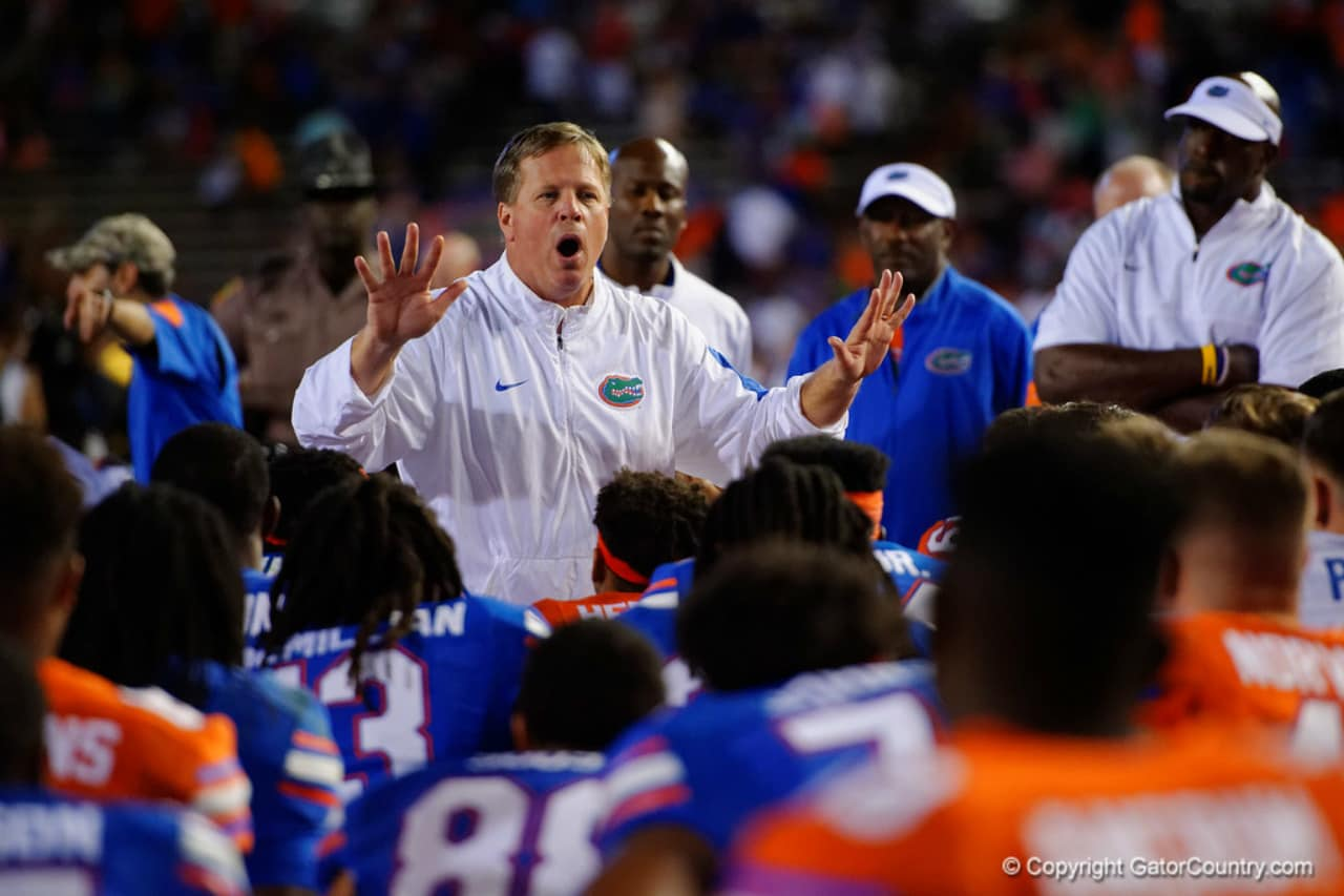 Florida Gators head coach Jim McElwain during the spring game 2016-1280x853