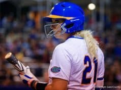 Florida Gators softball player Kayli Kvistad against FSU in 2016- 1280x855
