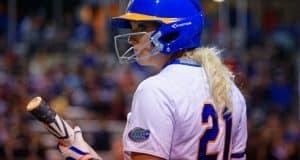 Florida Gators softball player Kayli Kvistad against FSU in 2016- 1280x855