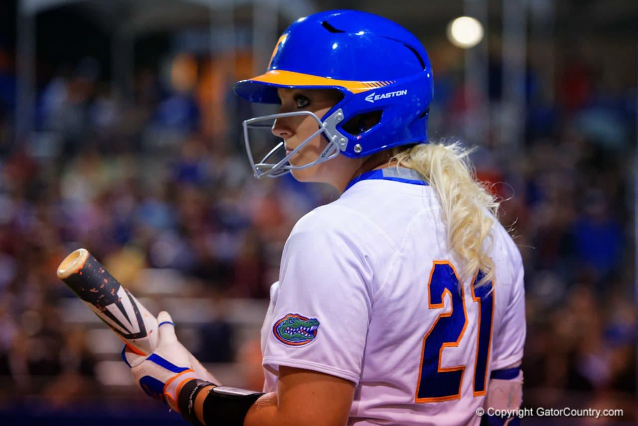 Florida-gators-softball-player-kayli-kvistad-against-fsu-in-2016