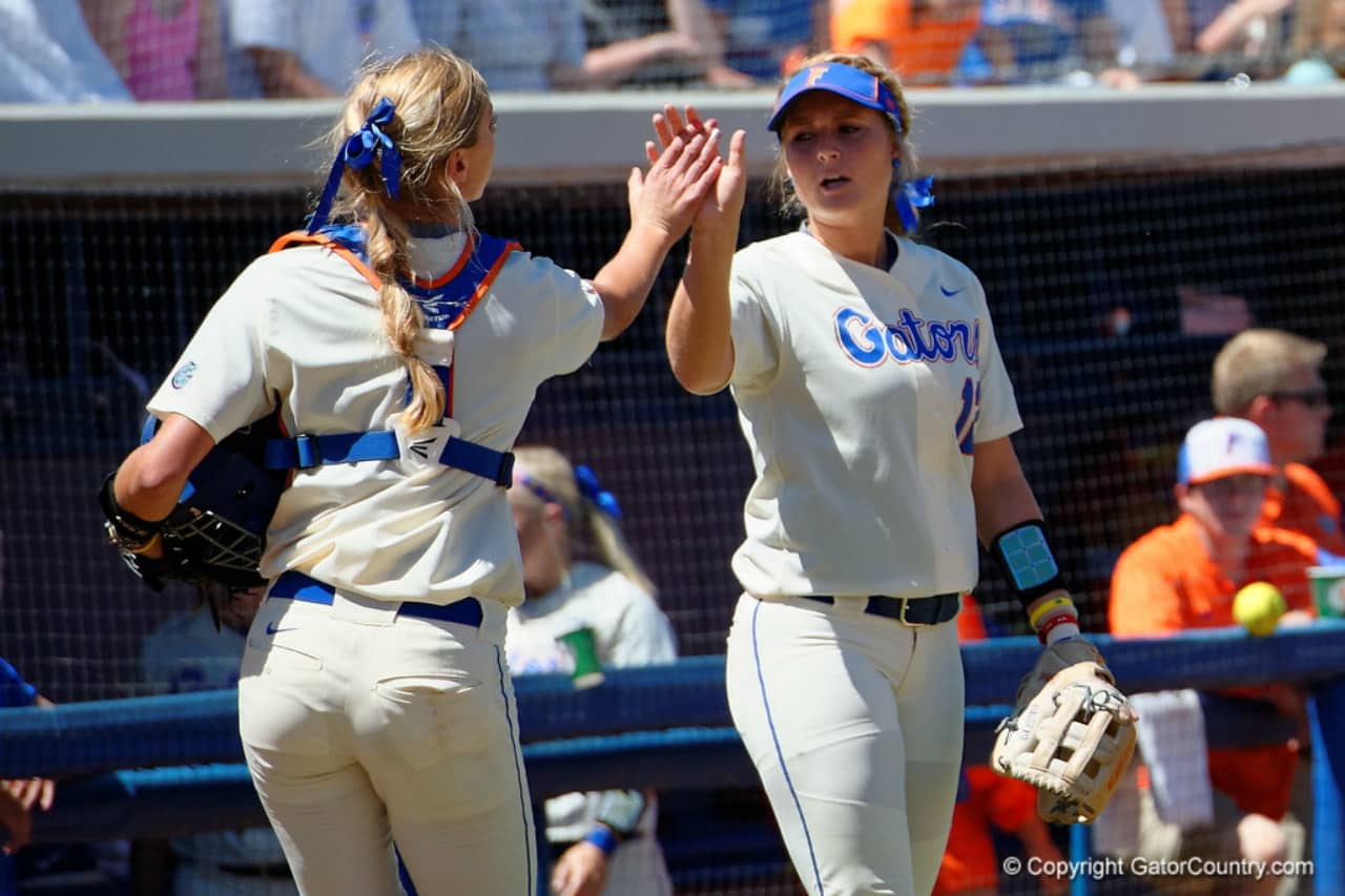 Florida Gators softball players Aubree Munro and Taylore Fuller- 1280x853