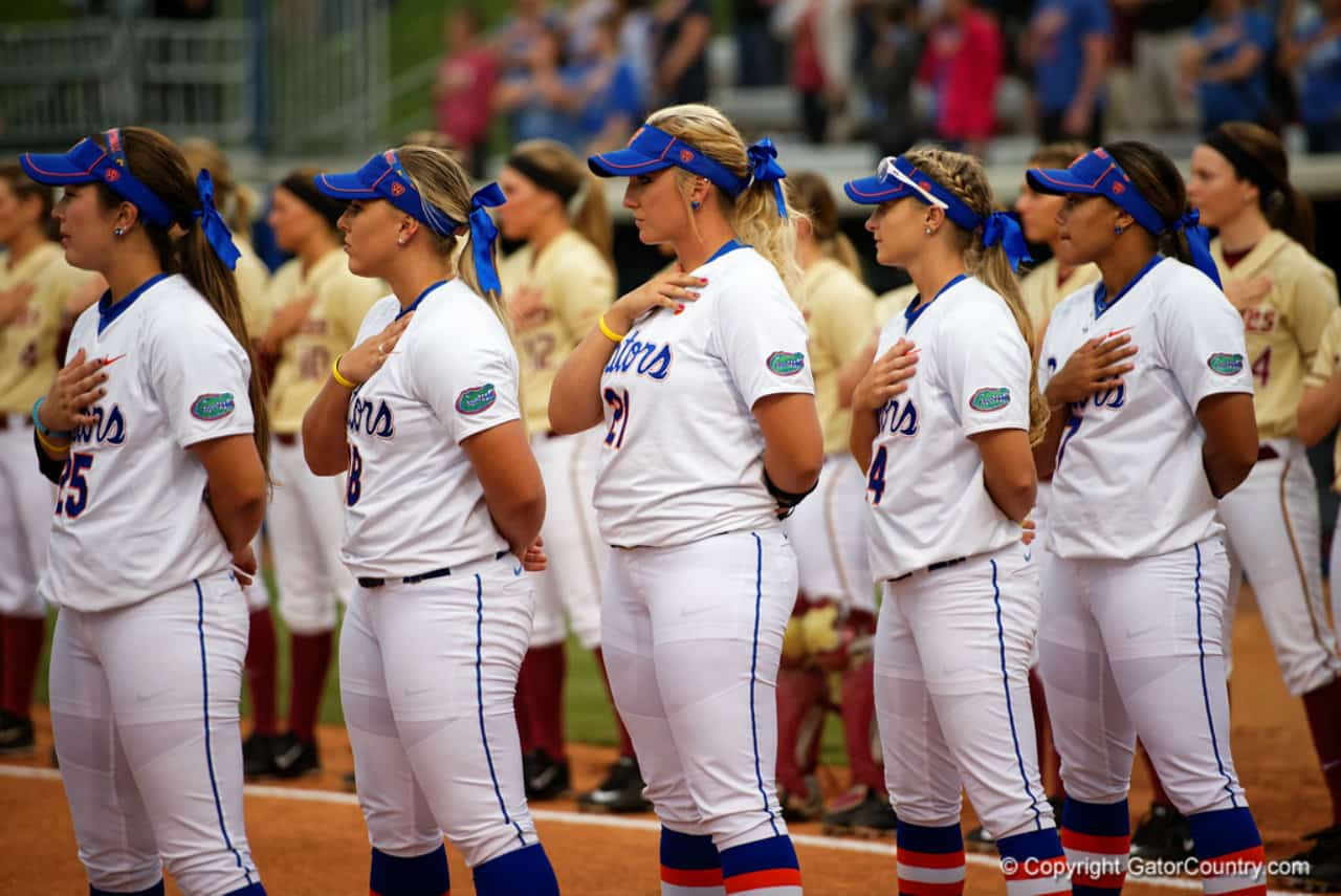 Florida Gators softball team before the FSU game- 1280x855