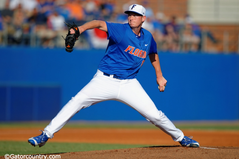 University of Florida pitcher A.J. Puk delivers against FGCU in his first start of the 2016 season- Florida Gators baseball- 1280x852