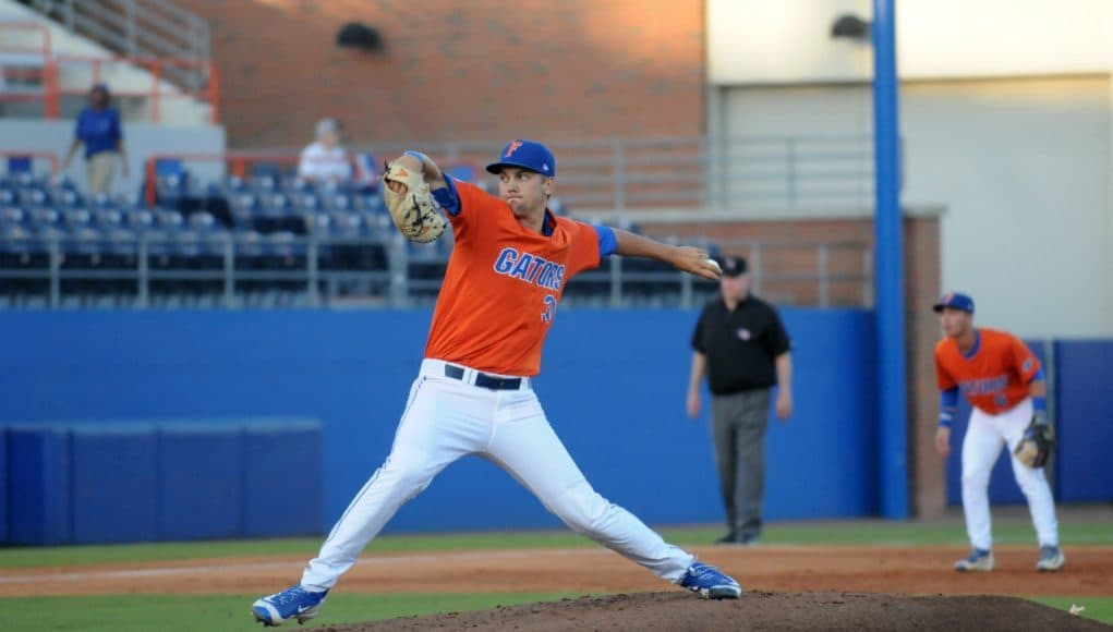 University of Florida sophomore Scott Moss picked up his first career win over Jacksonville University- Florida Gators baseball- 1280x850