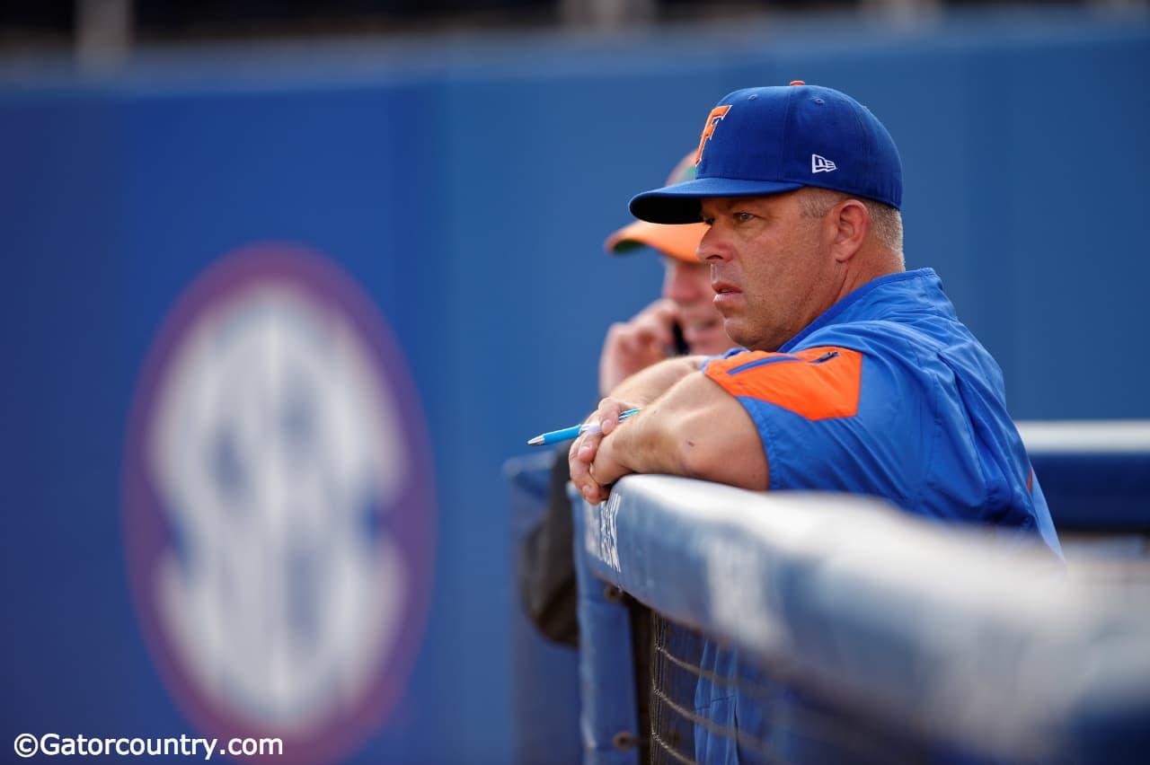 University-of-florida-head-baseball-coach-kevin-o%e2%80%99sullivan-watches-his-team-take-pregame-infield-before-a-friday-night-game-against-vanderbilt-florida-gators-baseball-1280x852