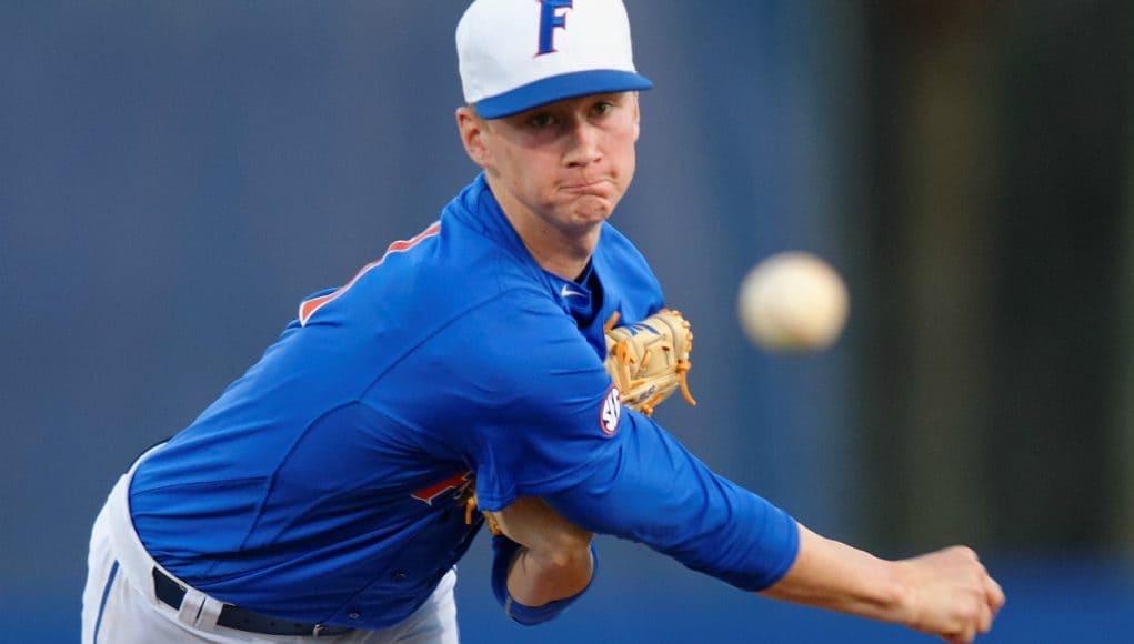 University of Florida pitcher Brady Singer makes his career debut against Florida Gulf Coast University- Florida Gators baseball- 1280x852