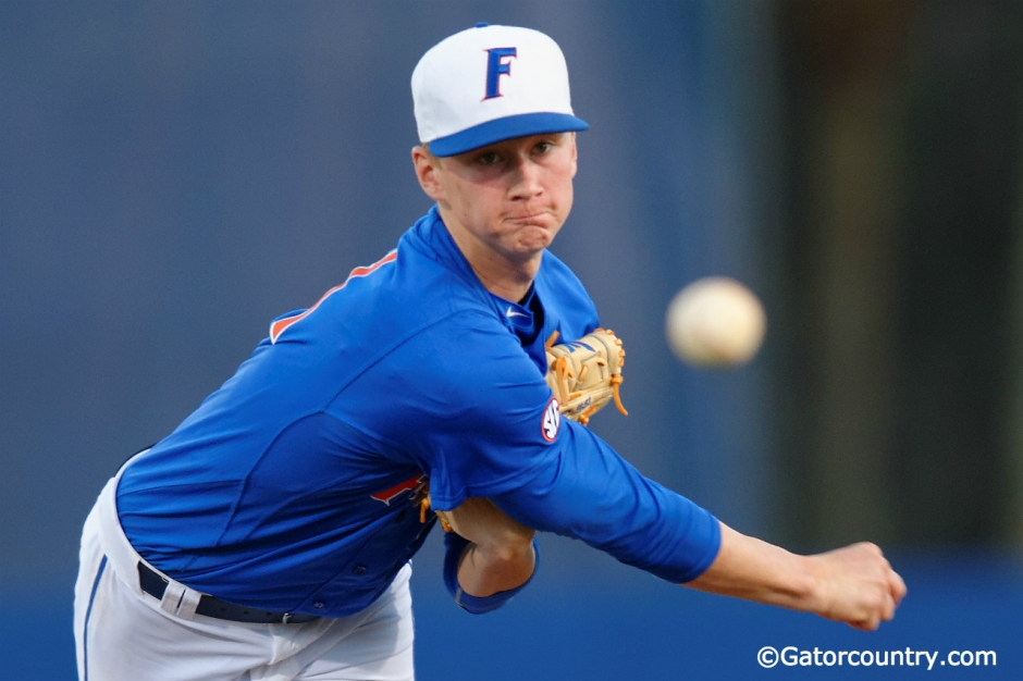 University of Florida pitcher Brady Singer makes his career debut against Florida Gulf Coast University- Florida Gators baseball- 1280x852