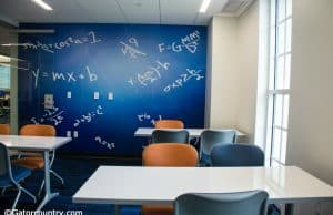 A math study room at the newly renovated Otis Hawkins Center at Farrior Hall on the University of Florida campus- Florida Gators- 1280x852