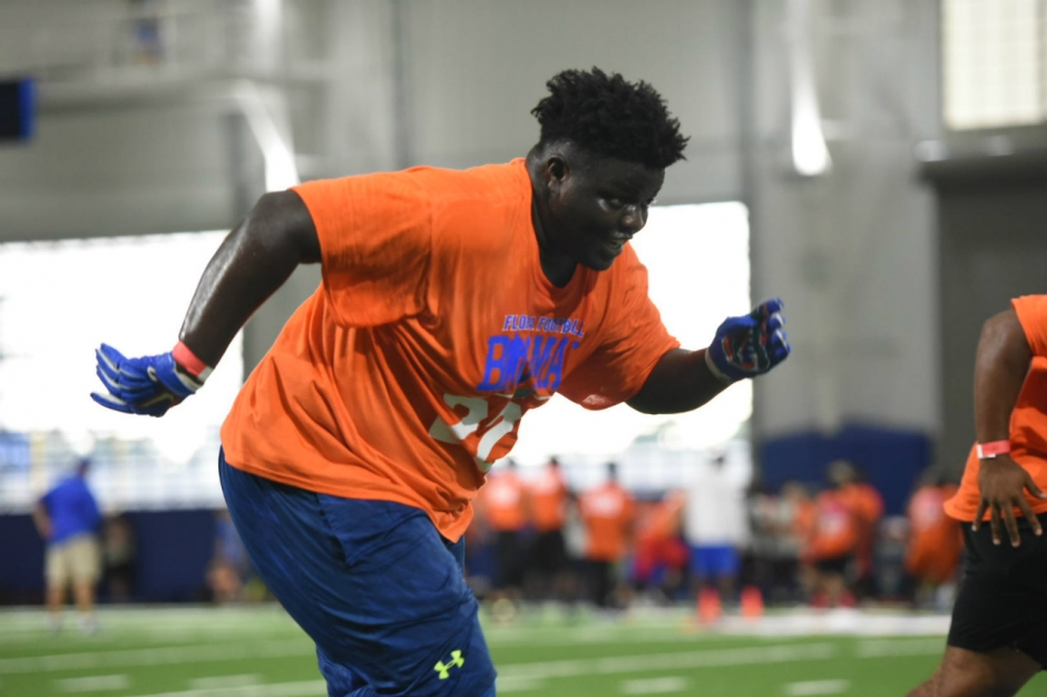 Florida Gators recruiting target Timaje Porter during football camp- 1280x853