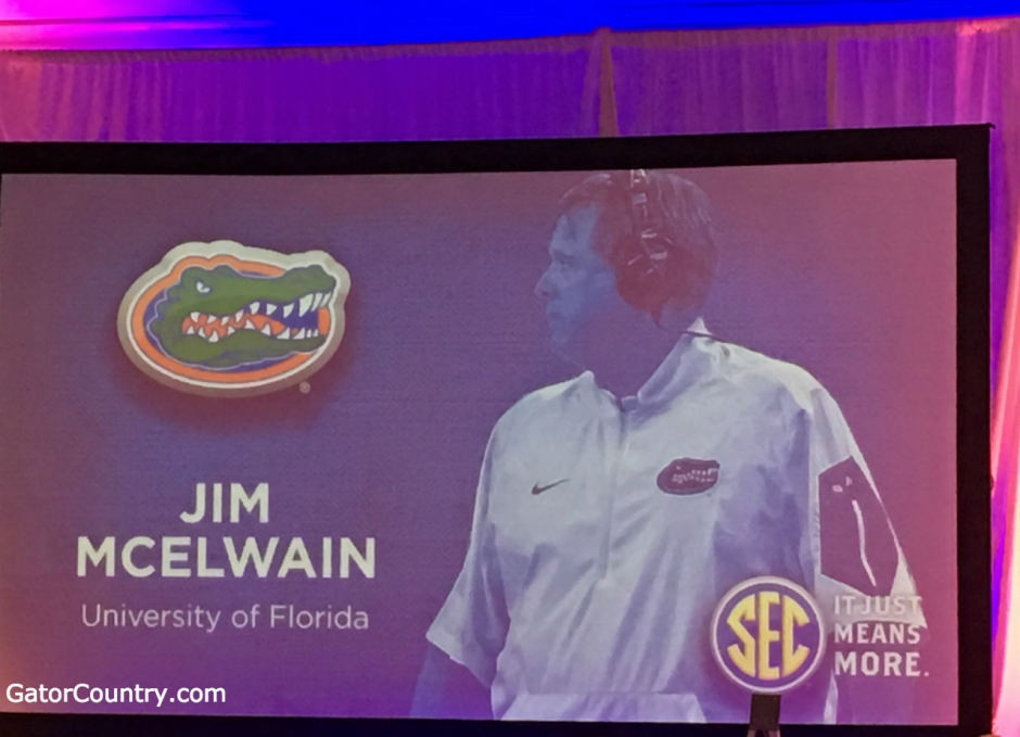 Florida Gators head coach Jim McElwain at SEC Media Days- 1280x924