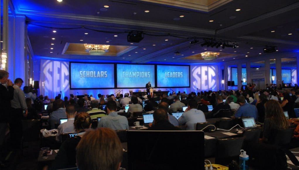 The ballroom at The Wynfrey Hotel in Hoover, Alabama where SEC Media Days are held- Florida Gators football- 1280x852