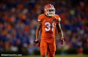 University of Florida cornerback Jalen Tabor lines up on defense in a win over Ole Miss at Ben Hill Griffin Stadium- Florida Gators football- 1280x852