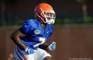 Florida Gators DB Duke Dawson at practice on August 24th- 1280x853
