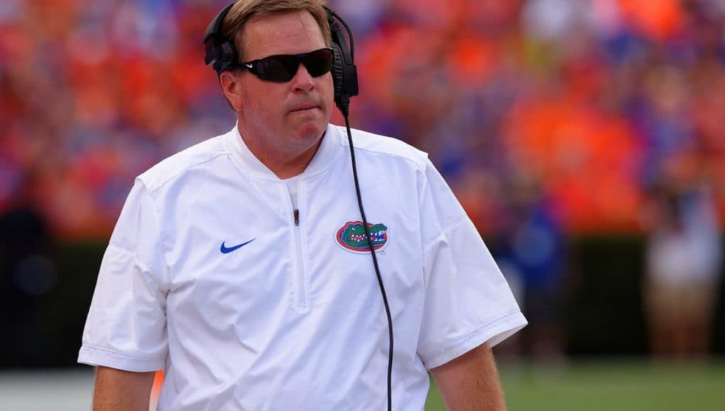 Florida Gators head coach Jim McElwain during the Kentucky game in 2016- 1280x853
