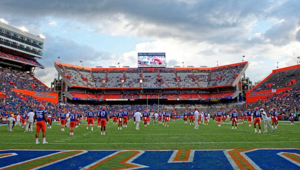 The Florida Gators football team prepares for the North Texas game- 1280x855