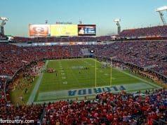 EverBank Field in Jacksonville is split 50-50 between Florida Gators and Georgia Bulldogs fans- Florida Gators football- 1280x854