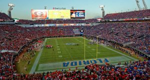 EverBank Field in Jacksonville is split 50-50 between Florida Gators and Georgia Bulldogs fans- Florida Gators football- 1280x854