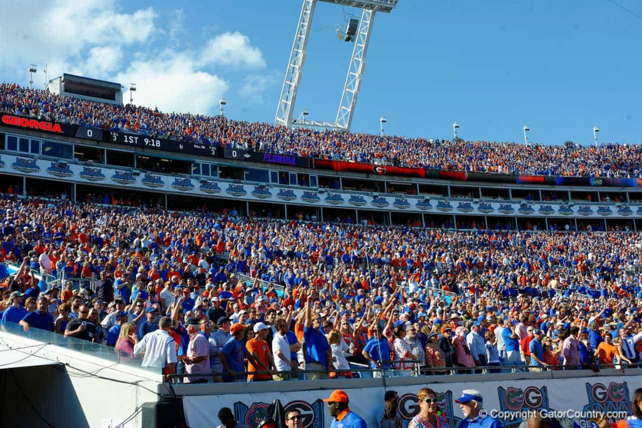 Florida-gators-fans-in-jacksonville-in-2015-for-the-uga-game
