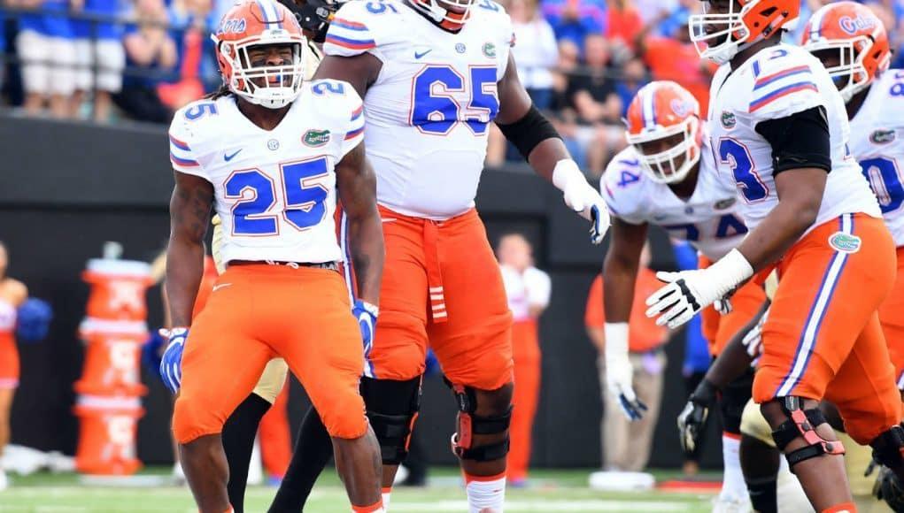 Florida Gators running back Jordan Scarlett scores against Vandy- 1280x1053