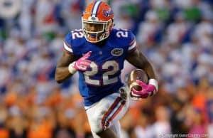 Florida Gators running back Lamical Perine runs against Missouri- 1280x853
