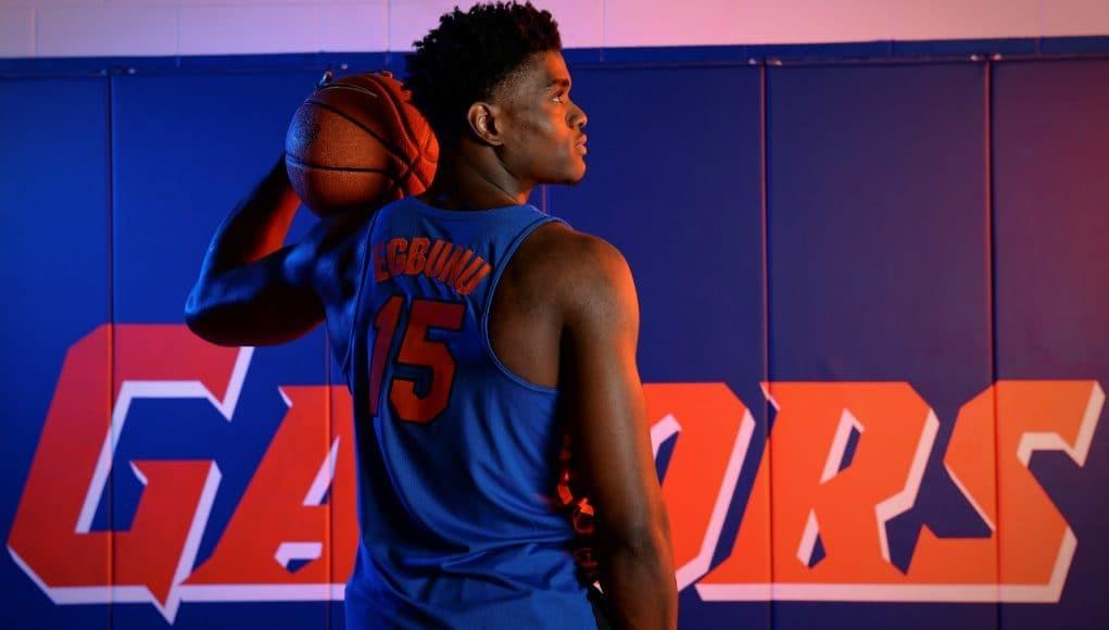 University of Florida big man John Egbunu poses during basketball media day- Florida Gators basketball- 1280x852