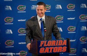 University of Florida head basketball coach Mike White holds a press conference at the 2016 media day- Florida Gators basketball- 1280x782