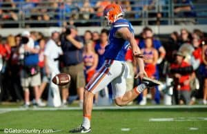University of Florida punter Johnny Townsend punts a ball during the Florida Gators 24-10 win over Georgia- Florida Gators football- 1280x852