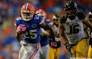 University of Florida running back Jordan Scarlett rushes for a 33-yard touchdown against Missouri- Florida Gators football- 1280x852