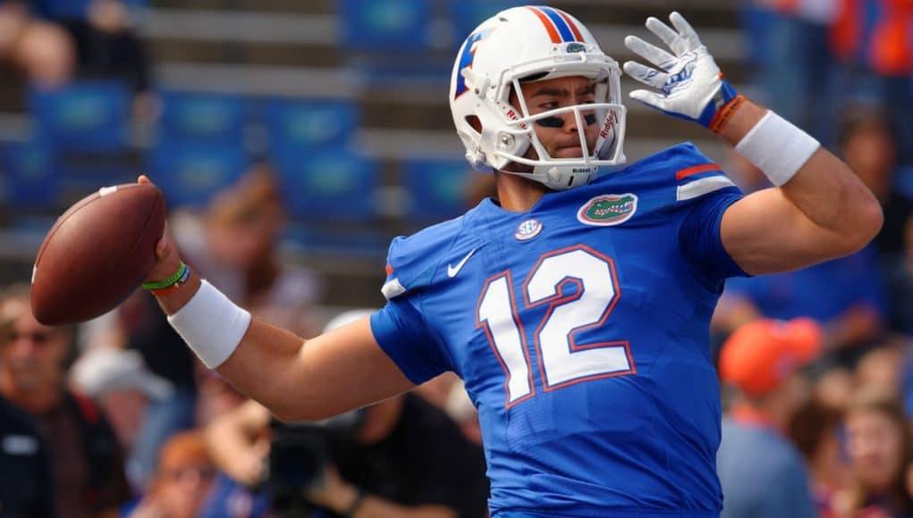 Florida Gators quarterback Austin Appleby throws against South Carolina- 1280x853