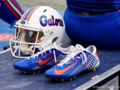 The Florida Gators wore the white helmet for senior day- 1280x855
