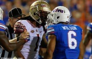 University of Florida cornerback and FSU receiver Ermon Lane during the Seminoles win over the Gators in 2015- Florida Gators football- 1280x852